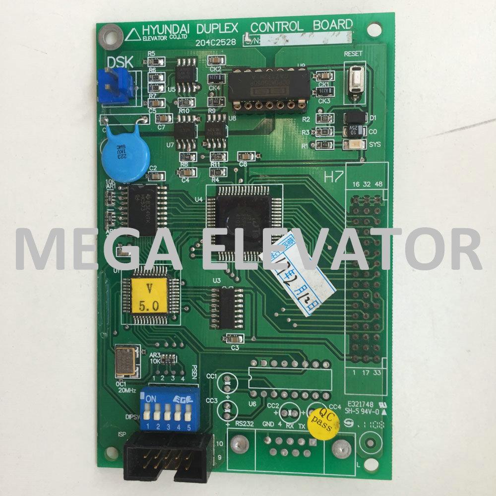 Hyundai Spare Parts,elevator DUPLEX Control board 204C2528